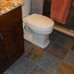 bathroom slate floor