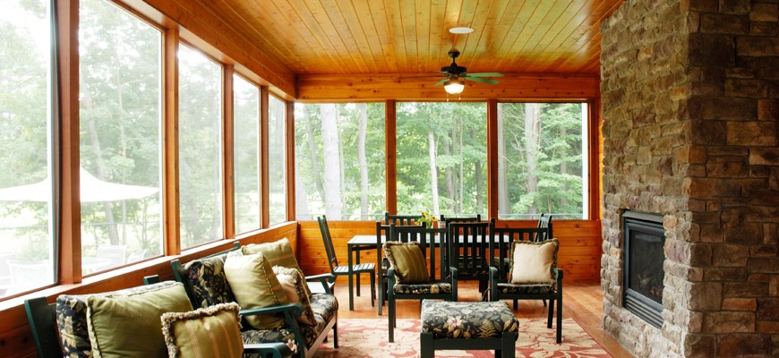 stone fireplace, pine sun room, burnt hills ny